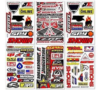 D6725 Best4buy Juego De 6 Adhesivos De Pvc Para Motocicleta