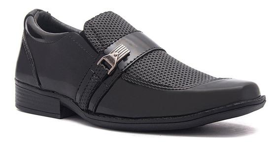 Sapato Social Infantil Masculino Couro Ecológico 15