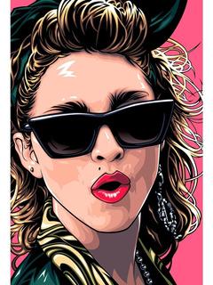 Placa - Quadro - Decorativo - Madonna - Música - (v248)