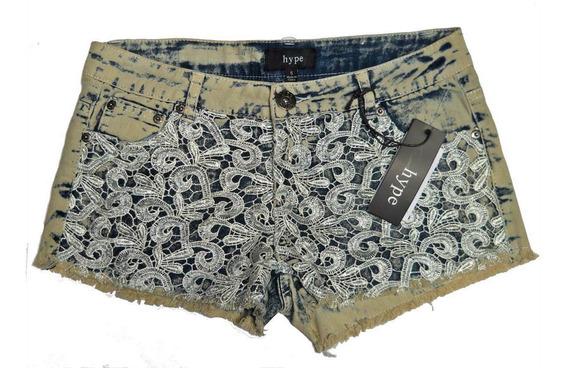 Shorts Mezclilla Denim Con Aplicaciones De Crochet 5 Juvenil
