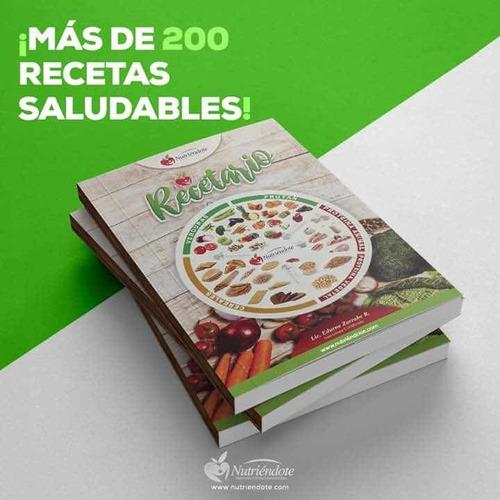 Recetario Nutriéndote 200 Recetas Bajas En Calorías.