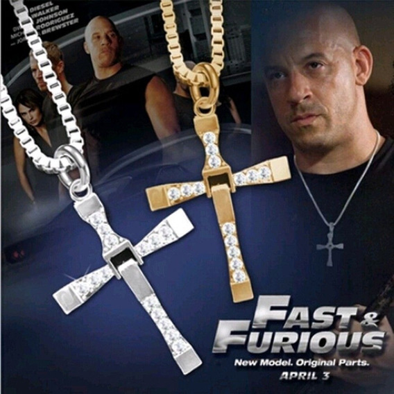 Colar Corrente Masculino Cruz Toretto Velozes E Furiosos