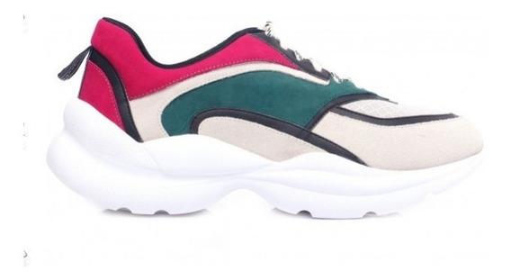 Tênis Capodarte Couro Dad Sneaker Chunky Verde