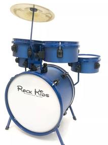 Bateria Musical Infantil Rmv Rock Kids Cor Azul