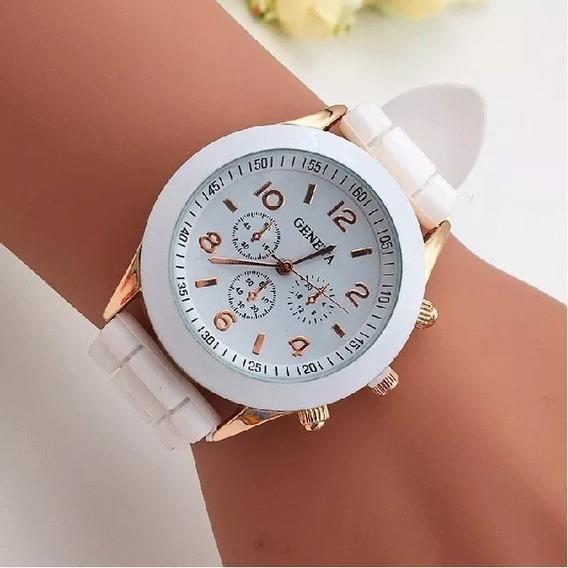Relógio Feminino Geneva Pulseira Silicone