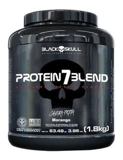 Whey Protein 7 Blend - 1800g Morango - Black Skull