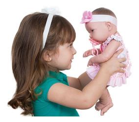 Boneca Bebê Baby Ninos Reborn - 37,5cm - Cotiplás