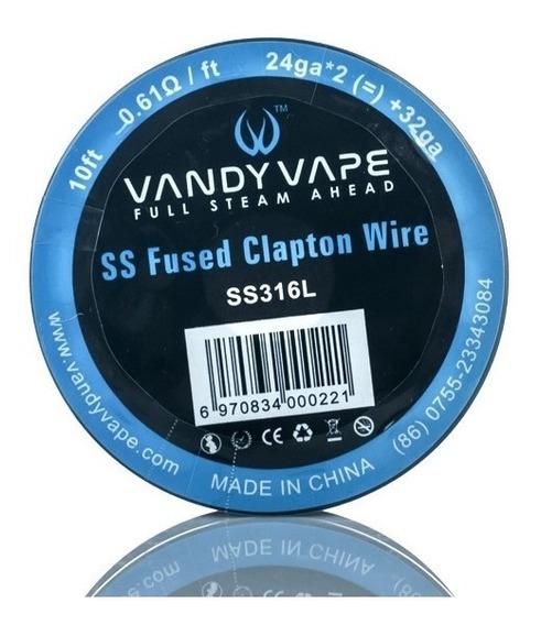Fio Para Resistência/coil Ss316l-vaper-fused Clapton 24ga 3m