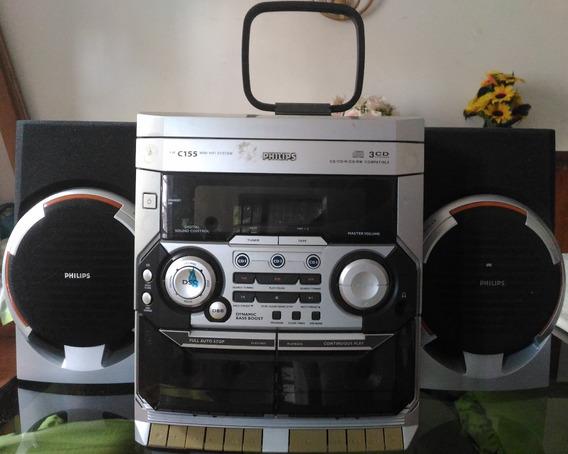 Aparelho Som Mini System Philips Fw C155/19 2 Caixas Som