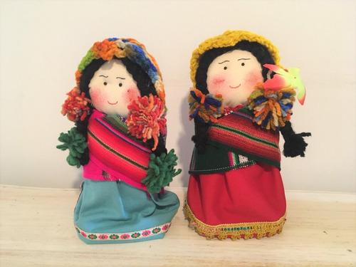Muñeca Etnica Decorativa Artesanal
