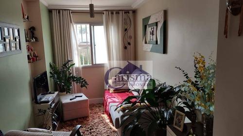 Imagem 1 de 20 de Apartamento Com 2 Dormitórios, Sendo 1 Suíte, Para Alugar, 58 M² Por R$ 1.500/mês - Vila Valparaíso - Santo André/sp - Ap3859