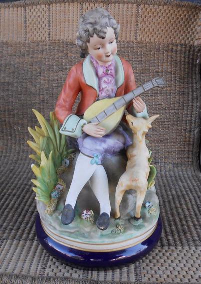 Figura Porcelana Capodimonte Italiana Grande
