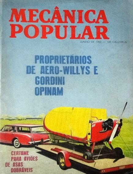 Revista Mecânica Popular Junho De 1963 Aero Willys E Gordini