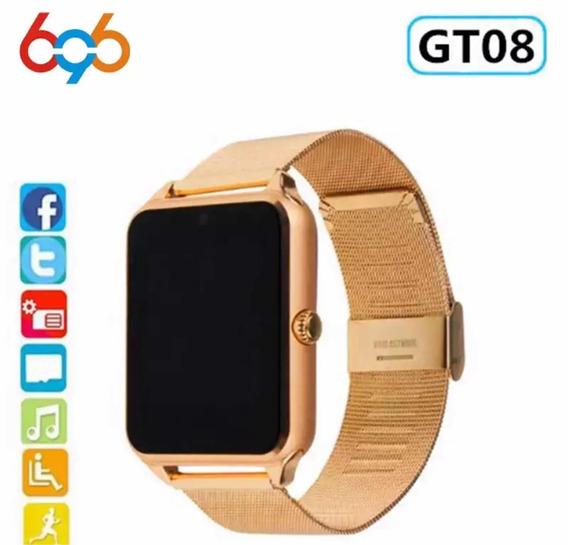 696 Smart Watch Gt08 Plus Pulseira De Metal Pronta Entrega