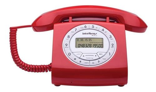 Telefone fixo Intelbras TC 8312 vermelho
