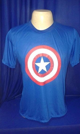 Camiseta Personagens - Capitão América, Hulk, Homem De Ferro