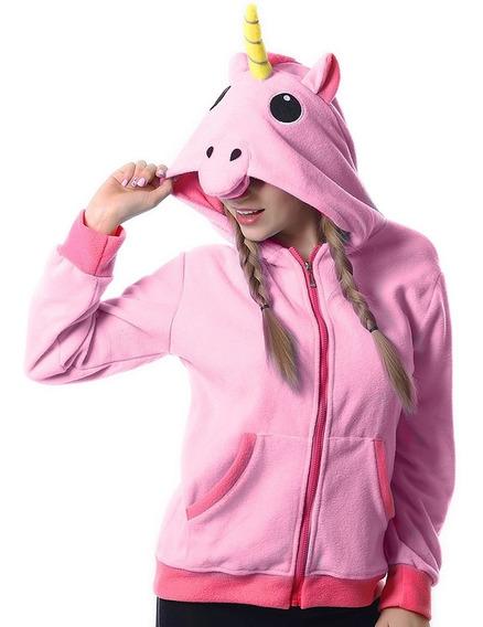 Sudadera Hoodie De Unicornio Cosplay Color Rosa H8092
