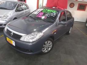 Renault Symbol 1.6 Cinza Flex Completo 2011