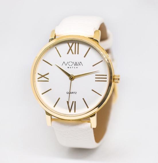 Relógio Feminino Nowa Dourado Nw1405k Original Nota Fiscal