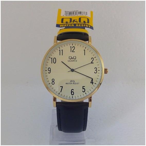 Relógio Masculino Qq Citizen 103y Original Luxo Vip Couro