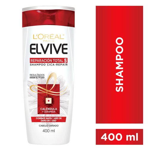 Shampoo Reparación Total 5 Elvive L´oréal Paris X 400 Ml