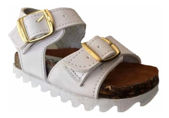 Sandalias Casuales Niña Msk 102 Blanco Moda