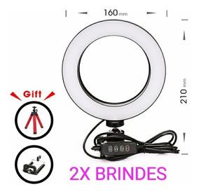 Ring Light Iluminador Usb Selfie E Maquiagem + 2x Brindes