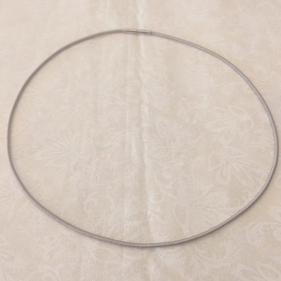 Gargantilha Corda De Violão Em Ouro Branco 18k