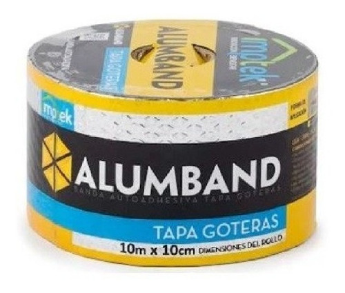 Cinta Tapagotera 10cm*10m Aluminio Teja Eternit Y Flanches