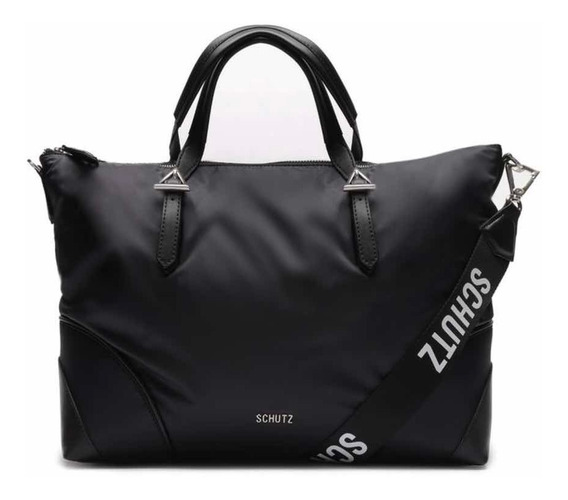 Bolsa Fem. Shopping Bag Nylon Black Schutz