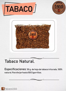 Paquete T@bac0 + Regalo. Tabaco 1910.