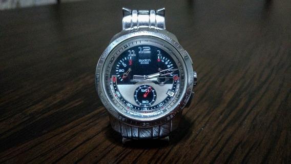 Relógio Swatch Fool Fly Retrograde Yrs406g Inox
