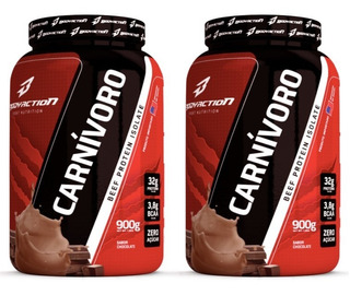 Kit 2x Carnívoro 900g Beef Protein Isolate - Bodyaction