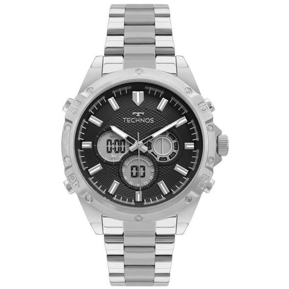 Relógio Technos Masculino Ref: Bj3814aa/1p Anadigi Prateado