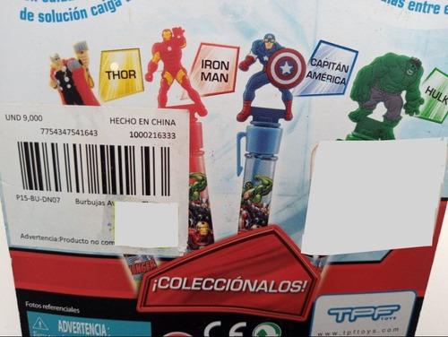 Tubo De Burbujas Avengers Thor Iron Man Ó Hulk