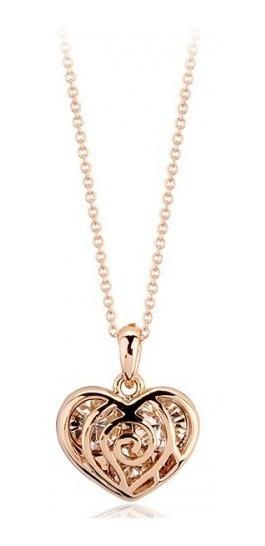 Collar De Corazón Con Cristales Swarovski Elements- 110