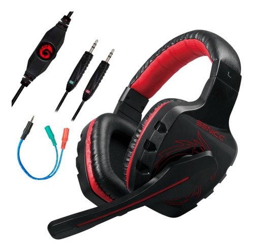 Auricular Gamer Con Microfono Ideal Pc Ps4 Xbox Gaming