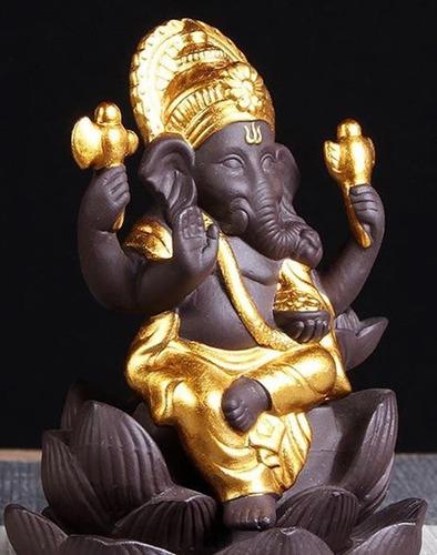 Imagem 1 de 4 de Incensario Elefante 12x9cm Insenso Reverso Invertido Refluxo