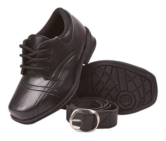 Sapato Sapatinho Social Infantil Masculino Com Cinto 20/27