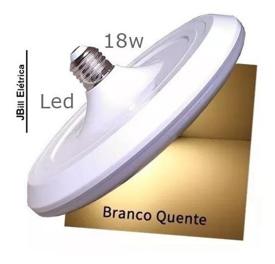 Lâmpada Led Disco 18w Bivolt E27 Branco Quente