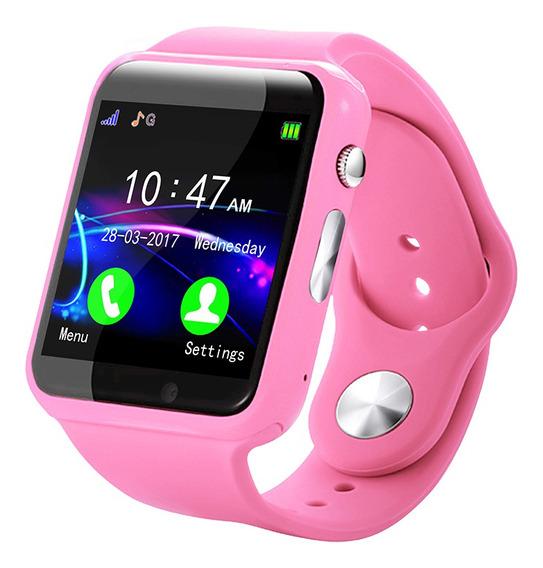 Reloj Inteligente Celular Para Niños Smartwatch Rosa