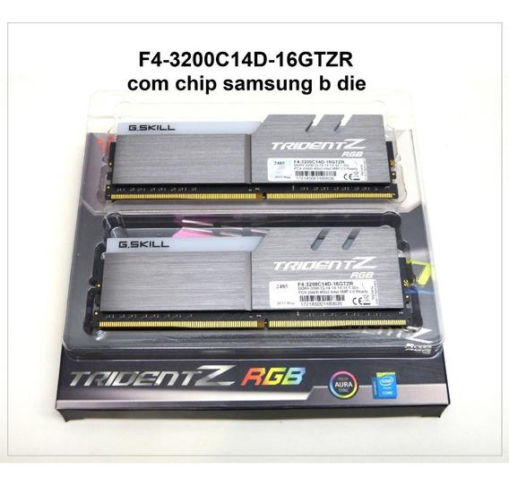 Memorias Tridentz Rgb 2x8gb Ddr4 Samsung B-die 3200mhz Cl14