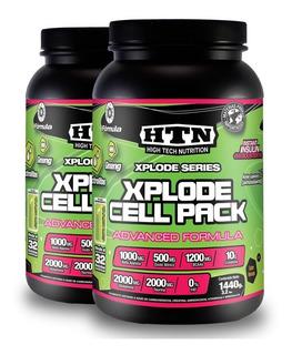 Xplode Cell Pack X 2,88 Kg Htn Glutamina Taurina Y Ginseng