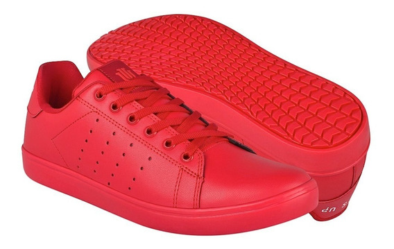 Tenis Caballero What´s Up 174438 Simipiel Rojo 26-29