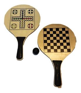 Set Badminton Tenis De Playa 2 Raquetas 1 Pelota Con Juegos