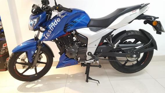 Moto Tvs Rtr 160 1400 Km Financia Entrega Ya Usada Exc Estad
