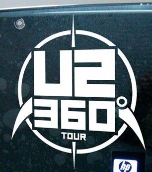Adesivo Decorativo Banda U2 360 Notebook Rock Bandas