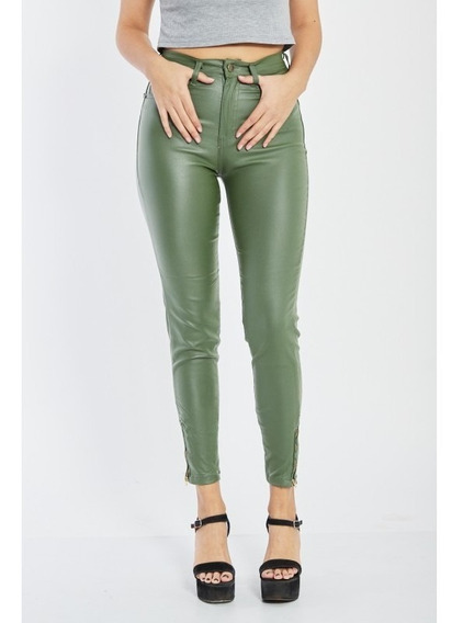 Pantalon Engomado Cierre En Botamanga Mujer 36 Al 44 Ojean