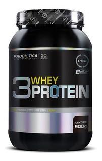 3 Whey Protein 900g Chocolate Probiótica