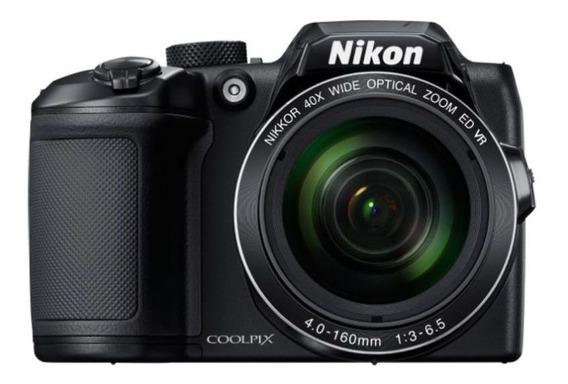 Câmera Digital Nikon Coolpix B500 - 16mp - Zoom 40x - Preto